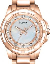 bulova rose gold watches best watchess 2017 bulova las 12 rose gold tone watch 98p141 bright watches