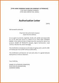 Sample Authorization Letter Sop Proposal