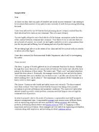 complaint letter sample supermarket human resource management