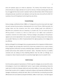 strategic management essay porter s generic strategies and strategi   4