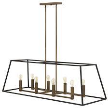 fulton foyer stem hung linear bronze