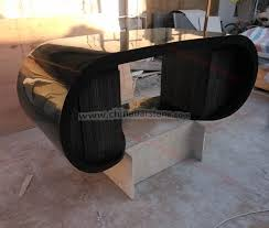 black office table. 2016 Black Marble Solid Surface Office Table Curved Executive Ceo Desk High Tech - Buy N