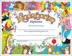 Dominie Kindergarten Diploma Award Certificates