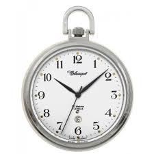 gents 43mm open face stainless steel 50m swiss quartz pocket watch