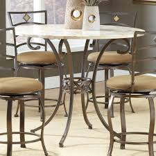 hilale brookside 45 inch diameter counter height round dining table brown powder coat com