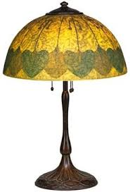 craft metal lighting. connecticut rare handel table lamp its shade with stylized leaves and buds meriden craft metal lighting