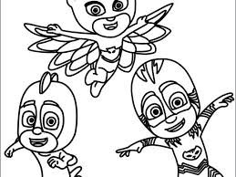 Pj Mask Coloring Pages At Getdrawingscom Free For Personal Use Pj