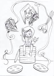 Small Picture Coraline Coloring Pages Within Coraline Coloring Pages glumme