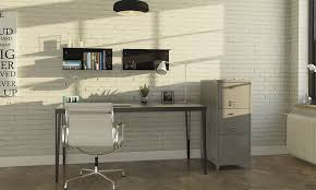 industrial style home office. The Whitewashed Bricks Creates A Clean But Still Industrial Look. Style Home Office D