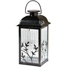 diy gemmy black gl solar outdoor decorative lantern lights