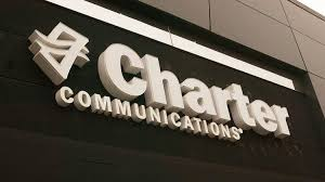 a sign for charter munications above the entrance to an office in chesterfield missouri