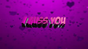 i miss you text beautiful love background