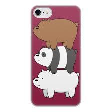 Чехол для iPhone 7, объёмная печать <b>Мы обычные медведи</b>, we ...