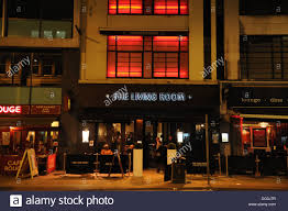 Living Room Bar Manchester Living Room Restaurant And Bar At Night Manchester Uk Stock Photo