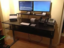 standingdesk ikea hack galant standing desk with monitor shelf