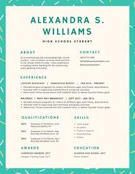 Resume For High School Students Best Customize 28 High School Resume Templates Online Canva
