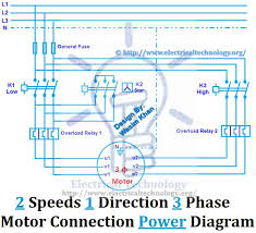 17 best images about elettro circuit diagram two speeds one direction three phase motor connection power diagram