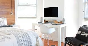 apartment home office. 8 Stylish Ways To Work From Home In A Small Apartment: Pinterest Roundup |  Steve Brown Apartments Apartment Home Office L
