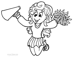 Free Cheerleading Stunt Coloring Pages Download Free Clip Art Free