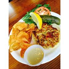 maryland crab cake sandwich back to two friends patio restaurant key west