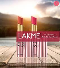 lakme 9 to 5 primer matte lip color review