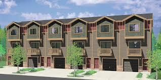 s 730 6 plex house plans row house plans townhouse plans narrow