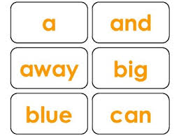 40 Orange Bold Text Dolch Pre Primer Sight Word Flash Cards In A Pdf File