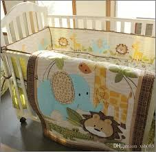 giraffe crib sheet inspirational baby boy bedding set pure cotton 3d embroidery lion elephant giraffe of