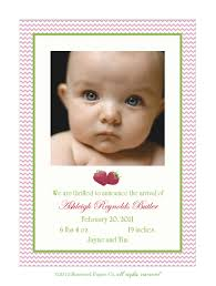 Sample Baby Announcement Birth Announcement Sample Strawberries A6 Photo Card Measures 4 5