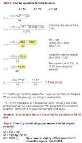quadratic formula real world problems