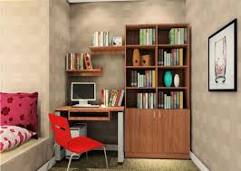 study room furniture design. Bedroom Office Combo Ideas Grey Wall Paint White Floating Desk Black Computer Set Beige Pad Dark · Study Room Design Furniture