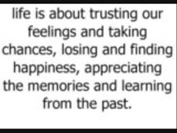 Wwwlife Quotescom Unique Life Is About Trusting Your FeelingsTaking ChancesFinding
