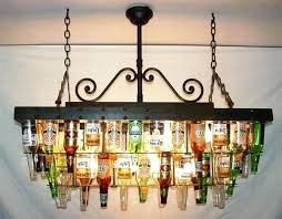 cobalt blue wine bottle chandelier 2 diy