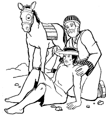 Small Picture The Parable of the GoodSamaritan inside Coloring Is Good For Kids