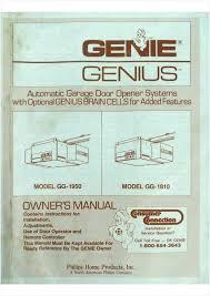 genie intellicode garage doors lovely genie garage door opener installation manual genie garage door