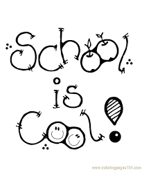 school is cool coloring page free printable coloring pages