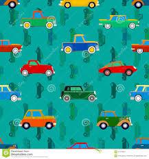Behang Van Autos Vector Illustratie Illustratie Bestaande Uit