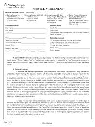Service Agreement Samples Senior Care Contract Samples Fill Online Printable