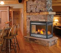 3 sided gas fireplace logs
