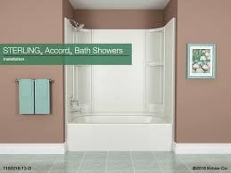 installation sterling accord bath showers