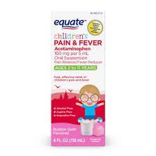 Equate Childrens Acetaminophen Bubblegum Suspension 160 Mg 4 Oz Walmart Com