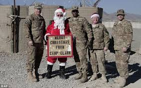 Troops get into Christmas spirit in Afghanistan with festive ...