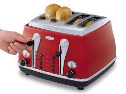 Retro Toasters icona red 4 slice toaster cto4003r delonghi new zealand 5859 by uwakikaiketsu.us