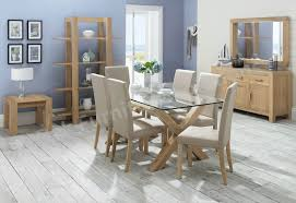 tiger oak dining chairs lyon washed oak glass top dining table and upholstered chairs ofs including small plan
