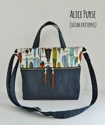 Handbag Patterns Enchanting Sotak Handmade Alice Purse New Pdf Pattern