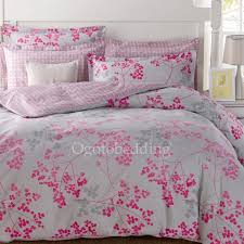 Clearance Light Grey and Pink Pattern Cotton forter Sets Queen