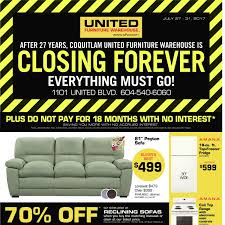 United Furniture Warehouse Weekly Flyer Closing Forever