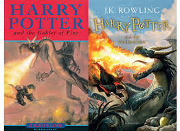 harry potter goblet of fire new and old book cover