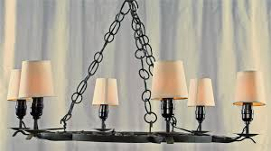 large round outdoor wrought iron chandelier with lamp holder and shades plus hanging chains ideas