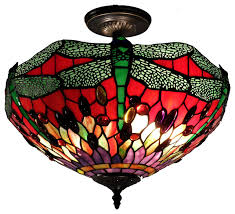 style dragonfly ceiling lamp traditional flush mount ceiling lighting